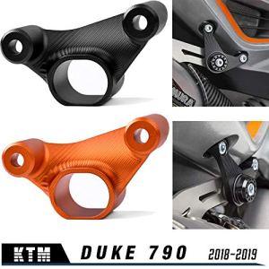 Moto DUKE 790 18 19 Nouveau support de fixation de suspension de tuyau d'échappement pour K-T-M 790 Duke 2018 2019 Accessoires (Orange)