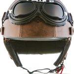 """MOTO Helmets® D22-Set """"Leather Brown"""" · L (59-60cm)"""