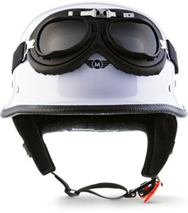 """MOTO Helmets® D33-Set """"White"""" · L (59-60cm)"""