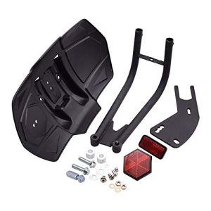 Moto Modifié Roue arrière Fender Garde-Boue Splash Guard Sable Fit for Kawasaki Yamaha Honda Universal (Color : Black)