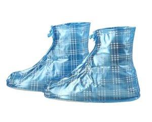 Plaid réutilisable épaissir imperméable Protection antidérapant résistant à l'usure imperméable Femmes Hommes Enfants Chaussures pour fille M:Suitable size 2-3 bleu