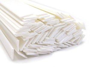 Plastique baguettes de soudure PE-HD Blanc 8x2mm Plat 25 Barres HDPE