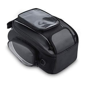 Sacoche de Réservoir Moto Magnétique Oxford Tissu Sac Imperméable Navigation Universelle 10L Noir
