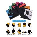 TAGVO 8 Pièces Multifonction Bandeau Casquette Bandana Cache-Cou Masque Visage Echarpe Foulard Tube Masque Bandeau Bracelet, Casque, Cagoule, Moto Bandana pour Sport