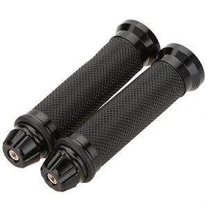 TOOGOO(R) 1 Paire 7/8″ Caoutchouc Aluminium Gel Ergonomique CNC Poignees de guidon Poignees pour Motorcyclette Sports MTB Velo – Noir