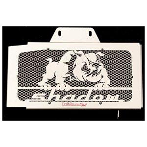 cache radiateur / grille de radiateur Honda VT 125 Shadow design «Bulldog» + grillage alu