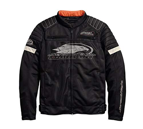 Harley-Davidson Men's Screamin' Eagle Mesh Riding Jacket, Black (Medium)