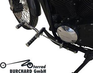 Repose-pieds Anlage 30cm anticipative Noir brillant/chromé pour Honda VT 750S RC58avec ABE