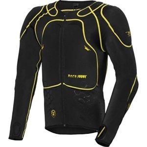 Safe Max® Veste de protection chemise de protection de moto Sous-veste avec protecteurs, niveau 2, extrêmement fonctionnel, protecteur d'épaule, coude et dos, aéré, respirant, noir, S – XXL / 2XL