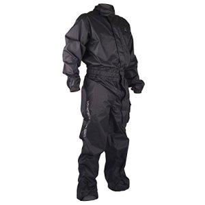 V Quattro Design Combinaison de Pluie Moto Homme Targa, Noir, Taille XL