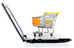 laptop and shopping cart