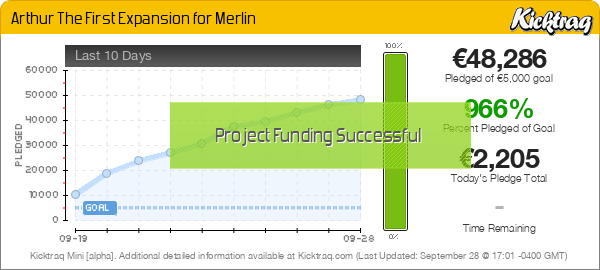 Arthur The First Expansion for Merlin -- Kicktraq Mini