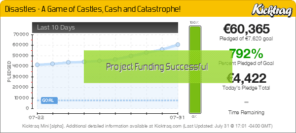 Disastles - A Game of Castles, Cash and Catastrophe! -- Kicktraq Mini