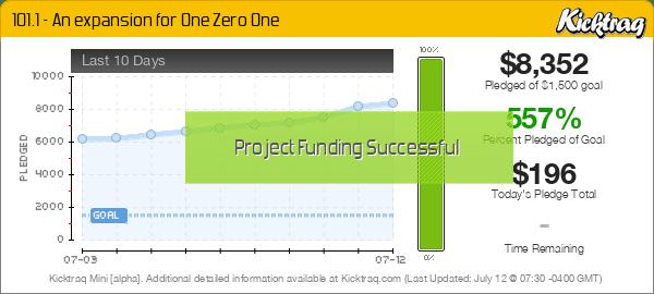 101.1 - An expansion for One Zero One -- Kicktraq Mini