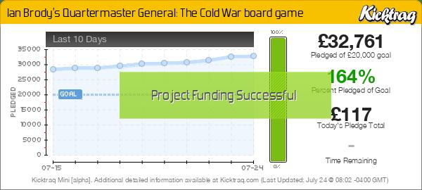 Ian Brody's Quartermaster General: The Cold War board game -- Kicktraq Mini