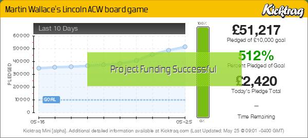 Martin Wallace's Lincoln ACW board game -- Kicktraq Mini