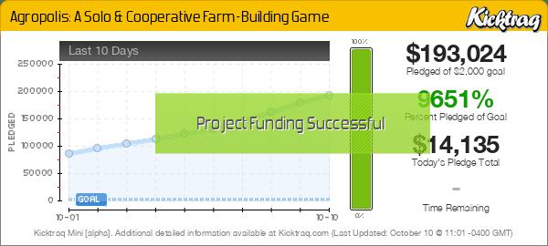 Agropolis: A Solo & Cooperative Farm-Building Game -- Kicktraq Mini