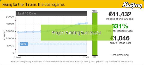 Rising for the Throne. The Boardgame. -- Kicktraq Mini