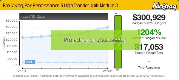 Pax Viking, Pax Renaissance & High Frontier 4 All: Module 3 -- Kicktraq Mini