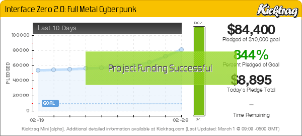 Interface Zero 2.0: Full Metal Cyberpunk -- Kicktraq Mini