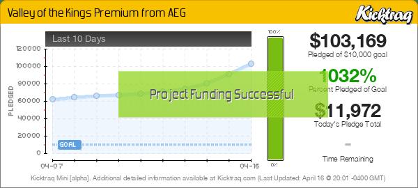 Valley of the Kings Premium from AEG -- Kicktraq Mini