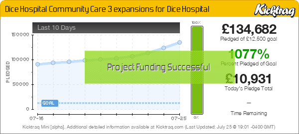 Dice Hospital Community Care 3 expansions for Dice Hospital -- Kicktraq Mini