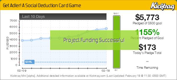 Get Adler! A Social Deduction Card Game -- Kicktraq Mini