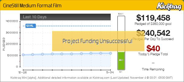 CineStill Medium Format Film -- Kicktraq Mini