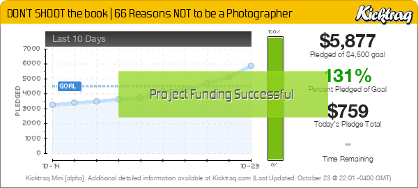 DON'T SHOOT the book | 66 Reasons NOT to be a Photographer -- Kicktraq Mini