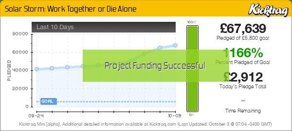 Solar Storm: Work Together or Die Alone -- Kicktraq Mini