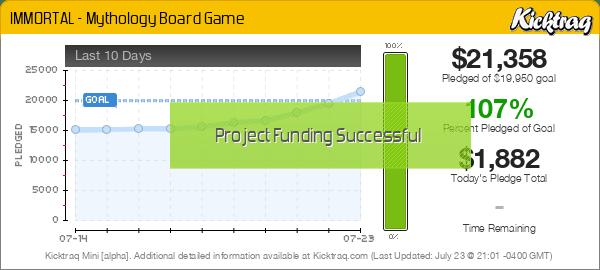 IMMORTAL - Mythology Board Game -- Kicktraq Mini