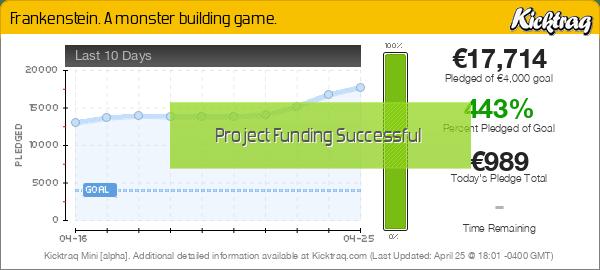 Frankenstein. A monster building game. -- Kicktraq Mini