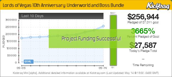 Lords of Vegas 10th Anniversary: Underworld and Boss Bundle -- Kicktraq Mini