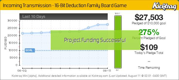 Incoming Transmission - 16-Bit Deduction Family Board Game -- Kicktraq Mini