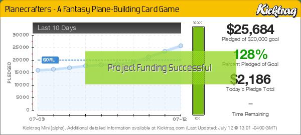 Planecrafters - A Fantasy Plane-Building Card Game -- Kicktraq Mini