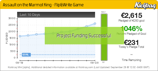 Assault on the Marmot King - Flip&Write Game -- Kicktraq Mini