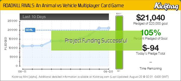 ROADKILL RIVALS: An Animal vs Vehicle Multiplayer Card Game -- Kicktraq Mini