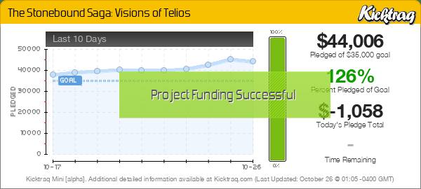 The Stonebound Saga: Visions of Telios -- Kicktraq Mini