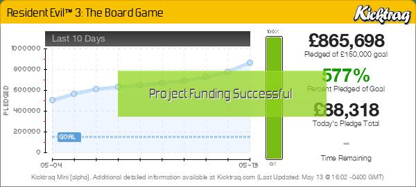 Resident Evil™ 3: The Board Game -- Kicktraq Mini