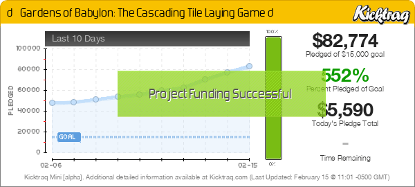 🌼 Gardens of Babylon: The Cascading Tile Laying Game 🌼 -- Kicktraq Mini