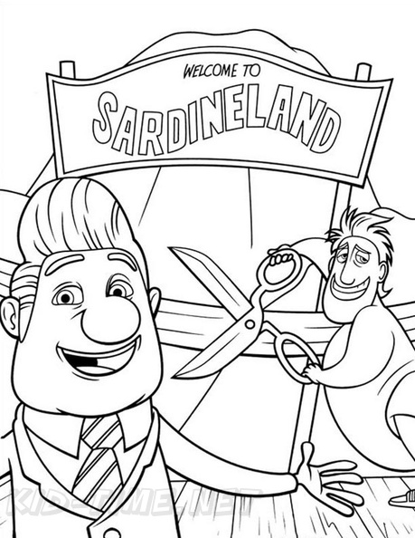 cloudy with a chance of meatballs coloring pages # 62