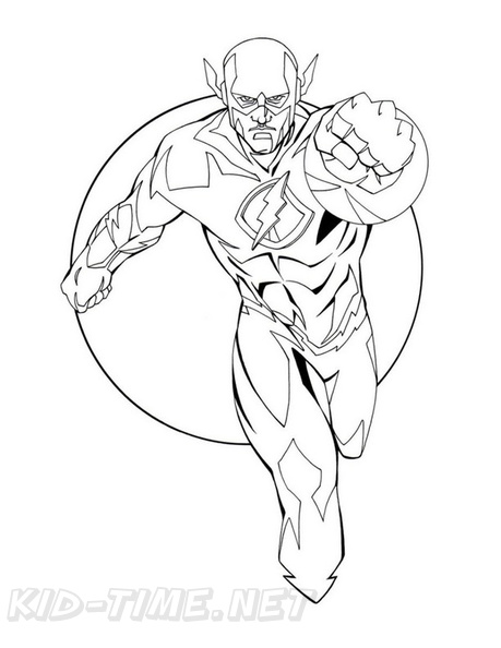 The Flash Coloring Book Page Free Coloring Book Pages Printables