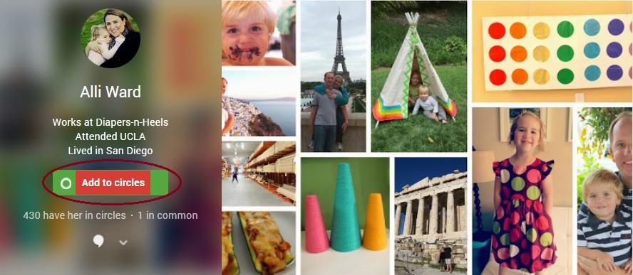 Foodies and Crafties Soiree GooglePlus blog hop featured blogger Alli Ward Diapers-n-Heels