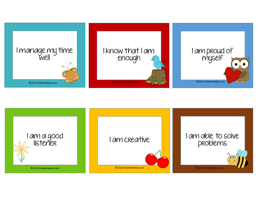 Free Affirmation Cards For Kids