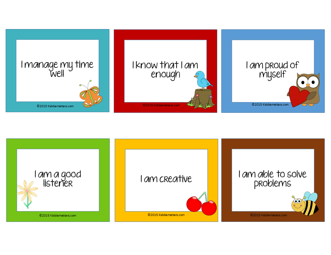 tips for teaching children affirmations kiddie matters if you like this post then you might also like life skills checklists for kids and teens