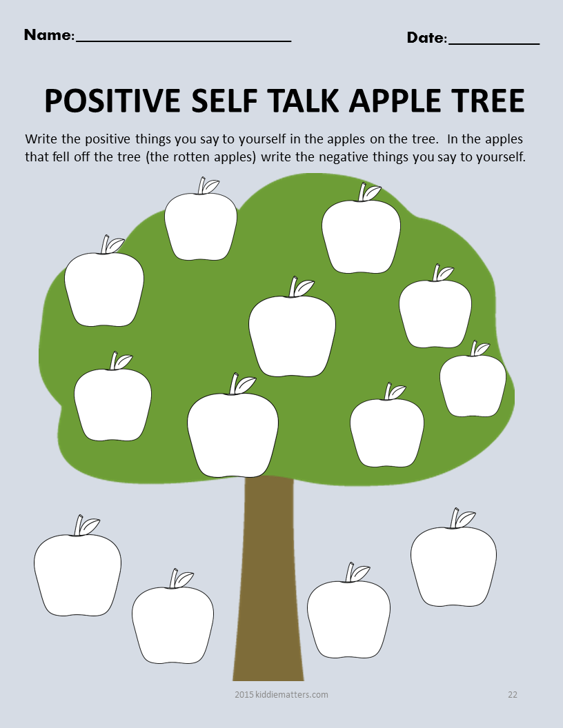 Fall Themed SocialEmotional Skills Building Activities For – Negative Self Talk Worksheet