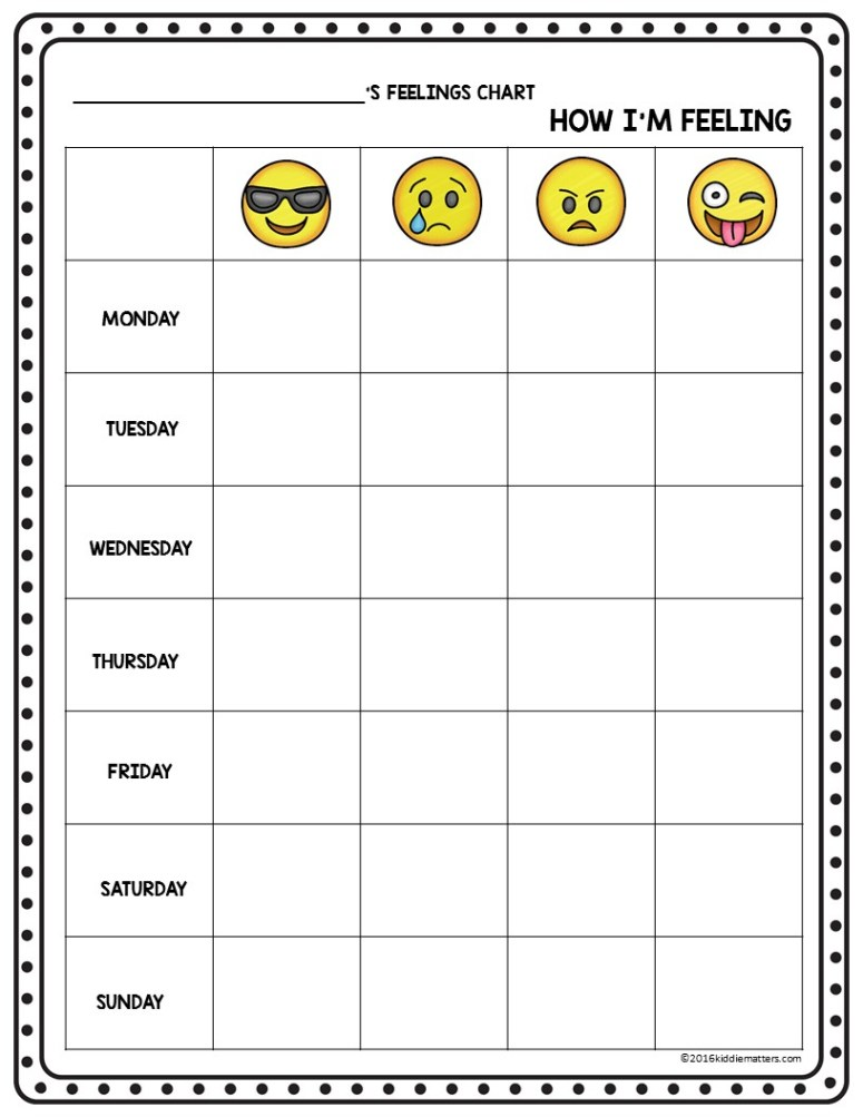 Emoji Feeling Faces: Feelings Recognition - Kiddie Matters