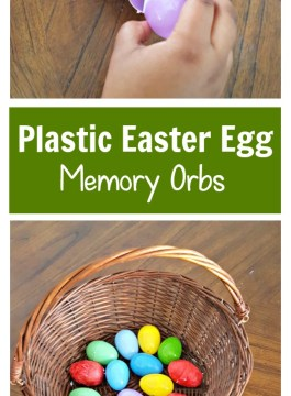 Making Inside Out Memory Orbs with Plastic Easter Eggs