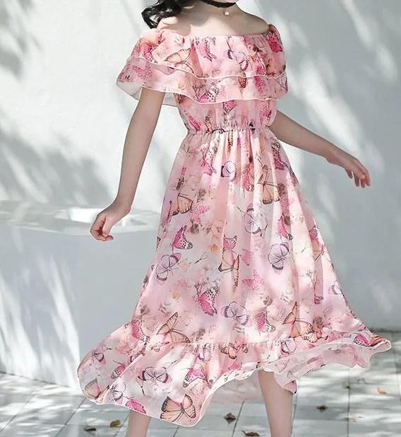 שמלת פרפרים מקסימה