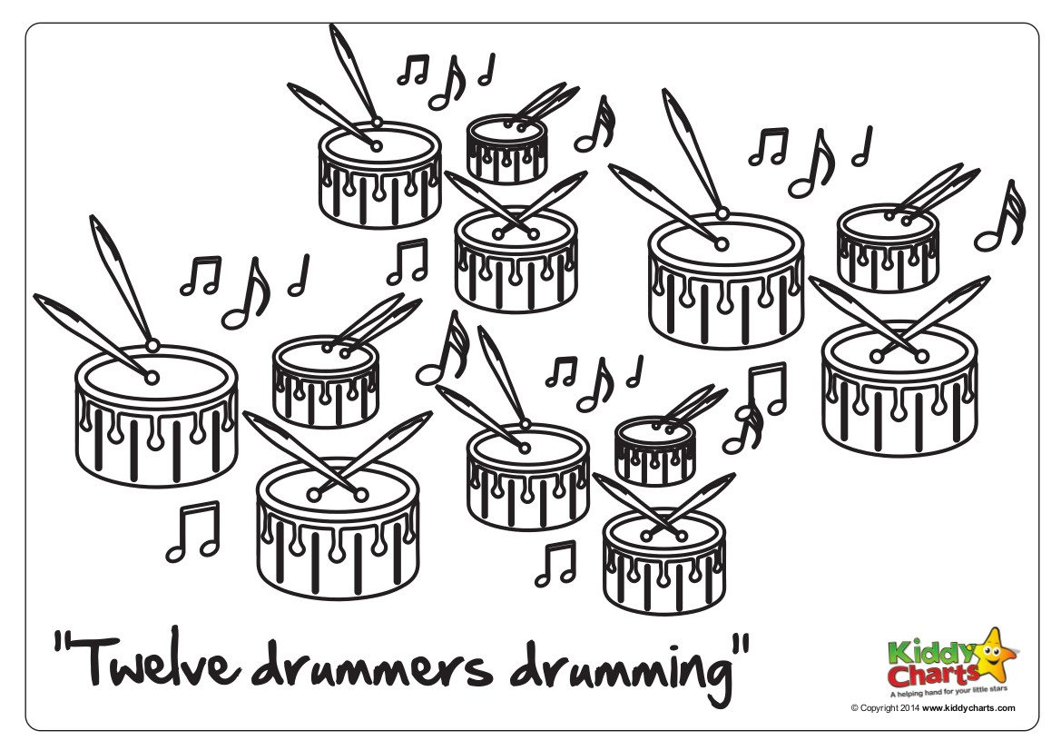 On The 12th Day Of Christmas 12 Drummers Drumming